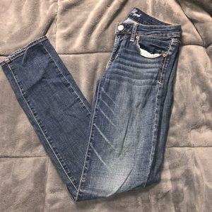 ❌women's American eagle skinny jeans 6 long